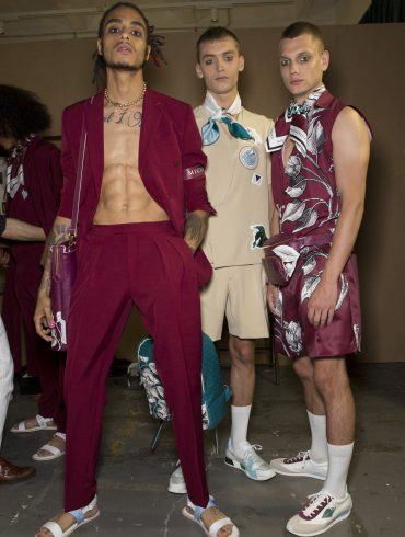 Miguel Vieira Spring 2020 Men's Fashion Show Backstage