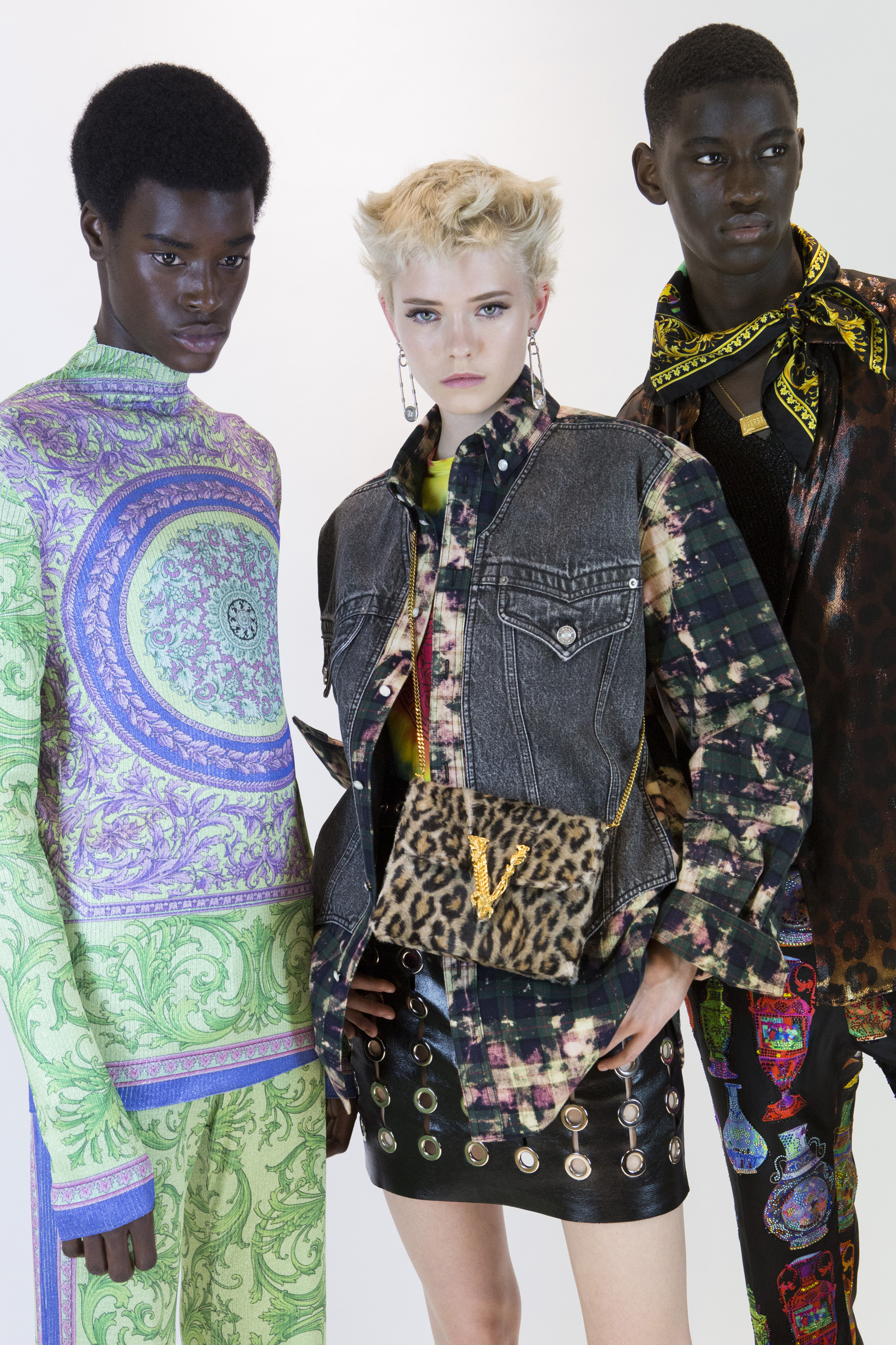 Versace Spring 2020 Men's Fashion Show Backstage