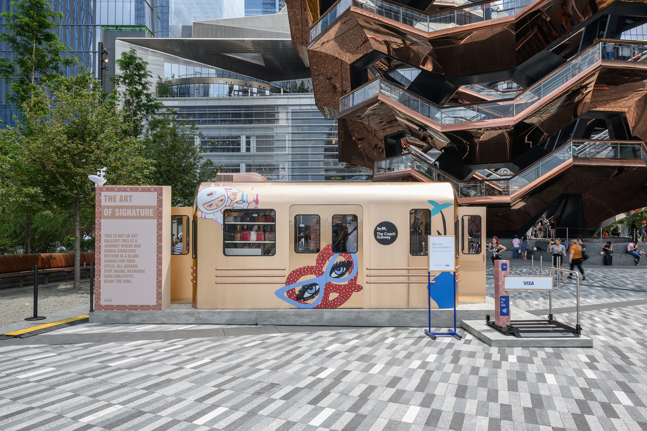 Coach Launches Subway-Car-Inspired Pop-Up at Hudson Yards   The Impression