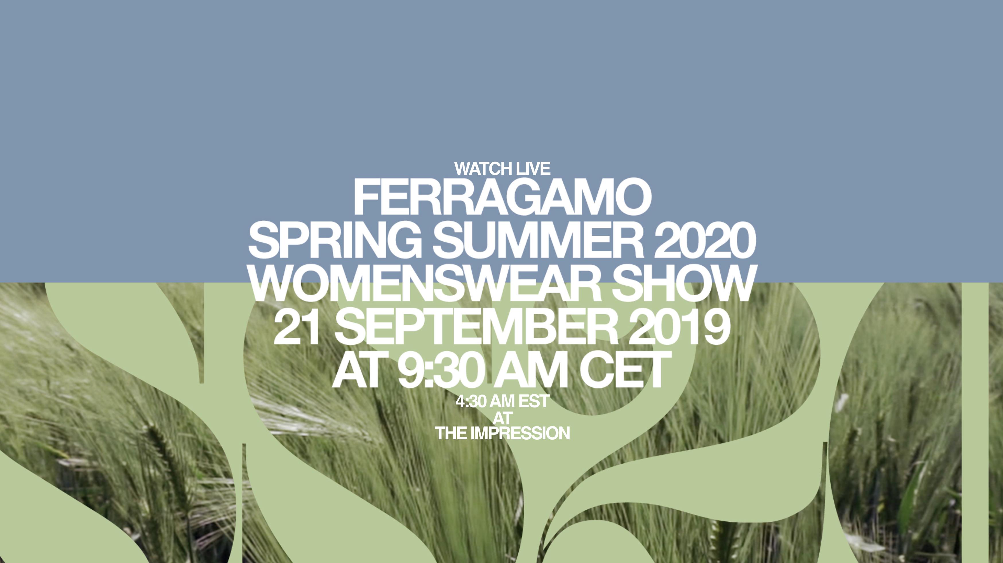 Watch Salvatore Ferragamo Spring 2020 Runway Show Live from Milan