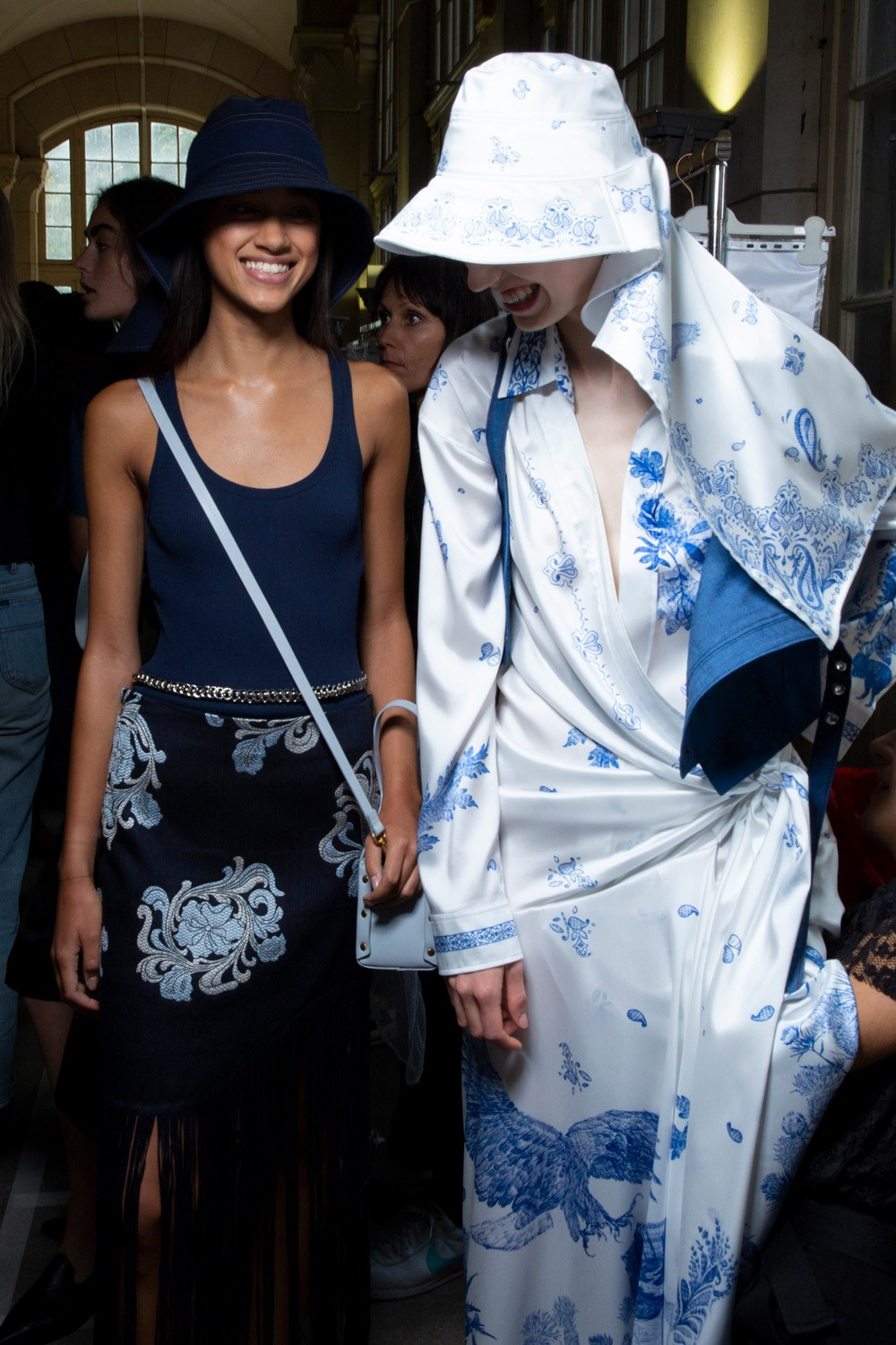Cedric Charlier Spring 2020 Fashion Show Backstage
