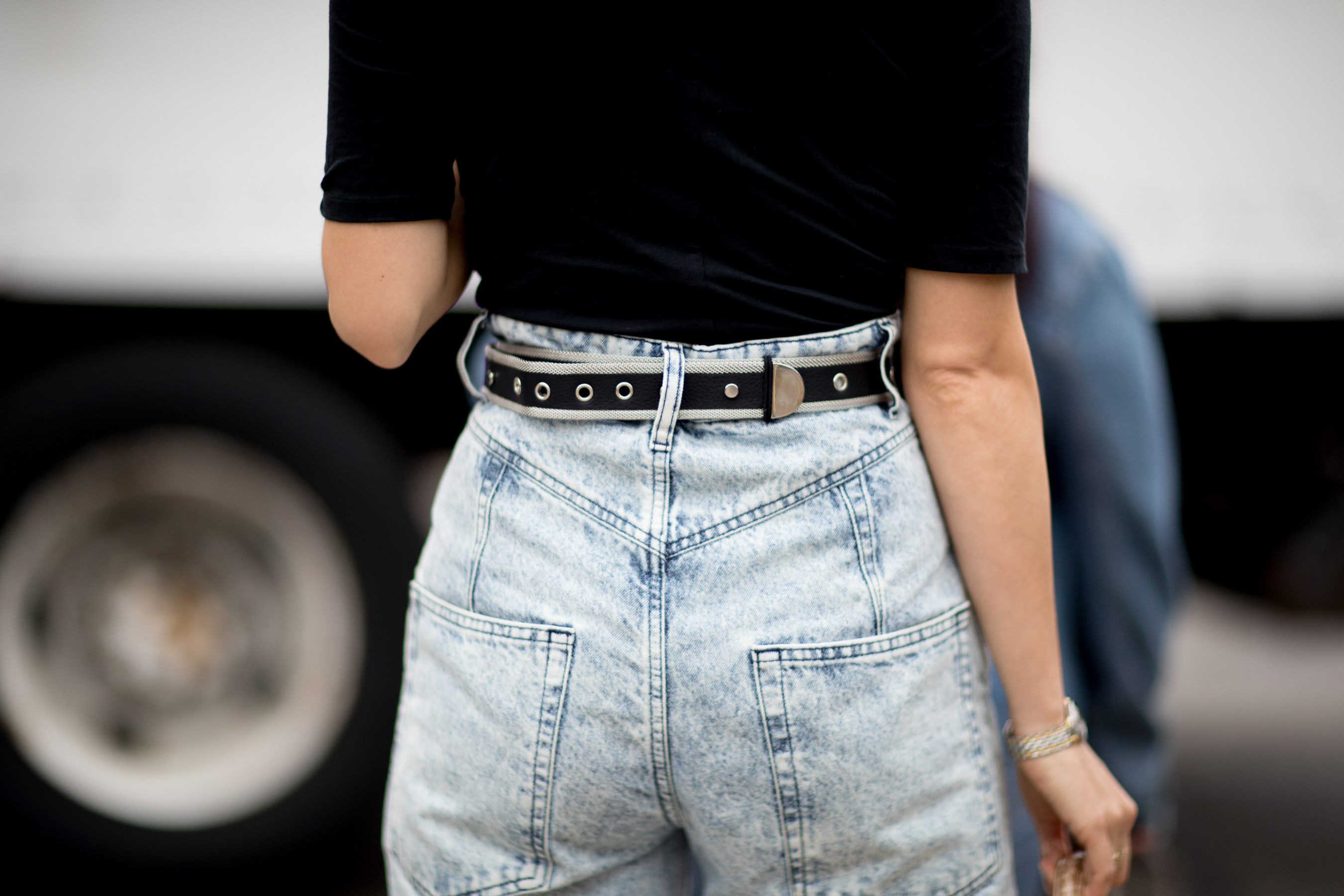 Street Style Trend - High Waisted Pants Fall 2019
