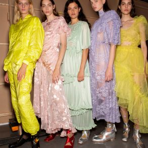 Preen By Thornton Bregazzi Spring 2020 Fashion Show Backstage