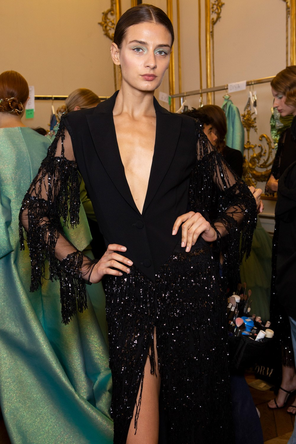 Christian Siriano Spring 2020 Fashion Show Backstage