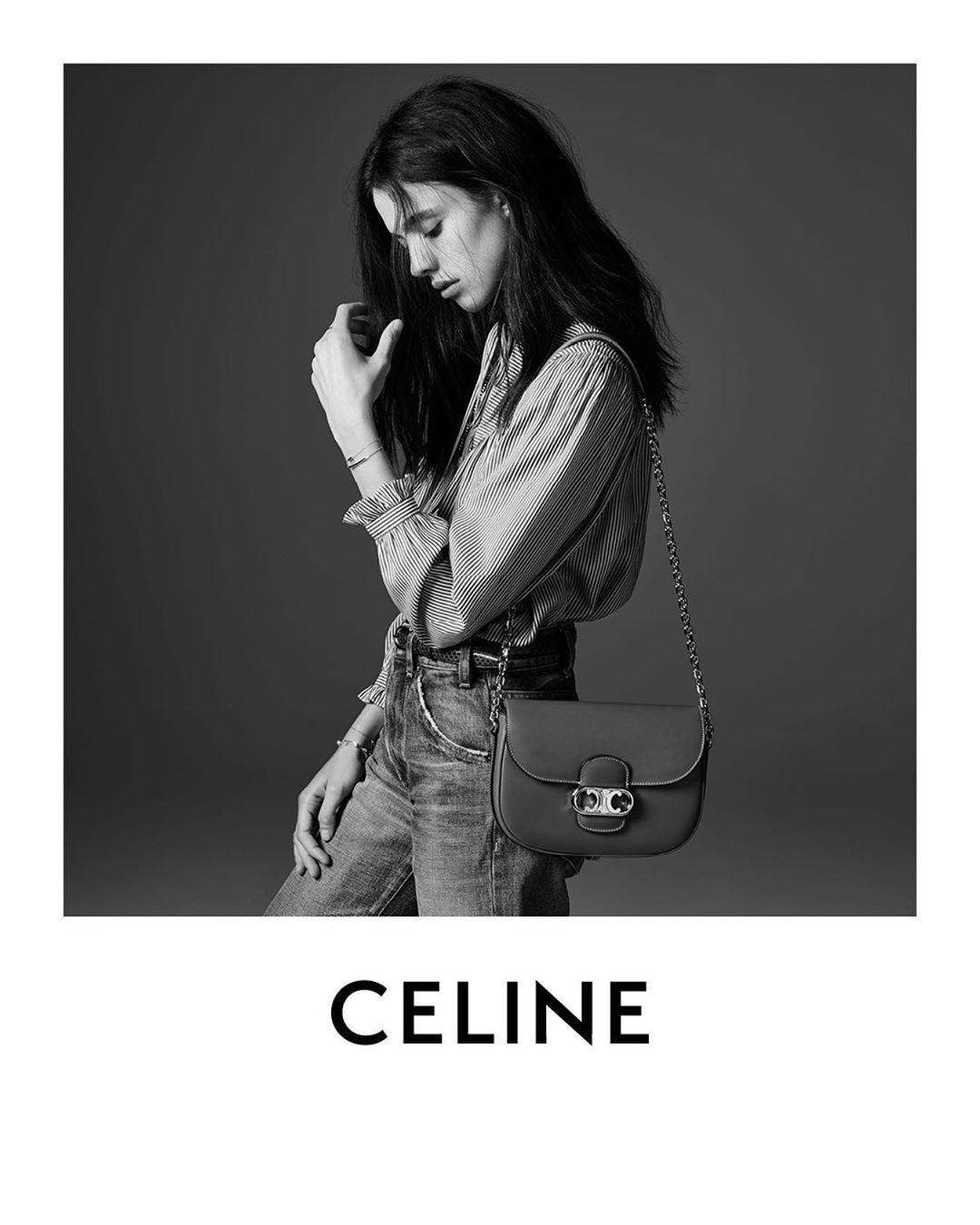 Celine Margaret Quailey Fall 2019 Fashion Ad Campaign by Hedi Slimane