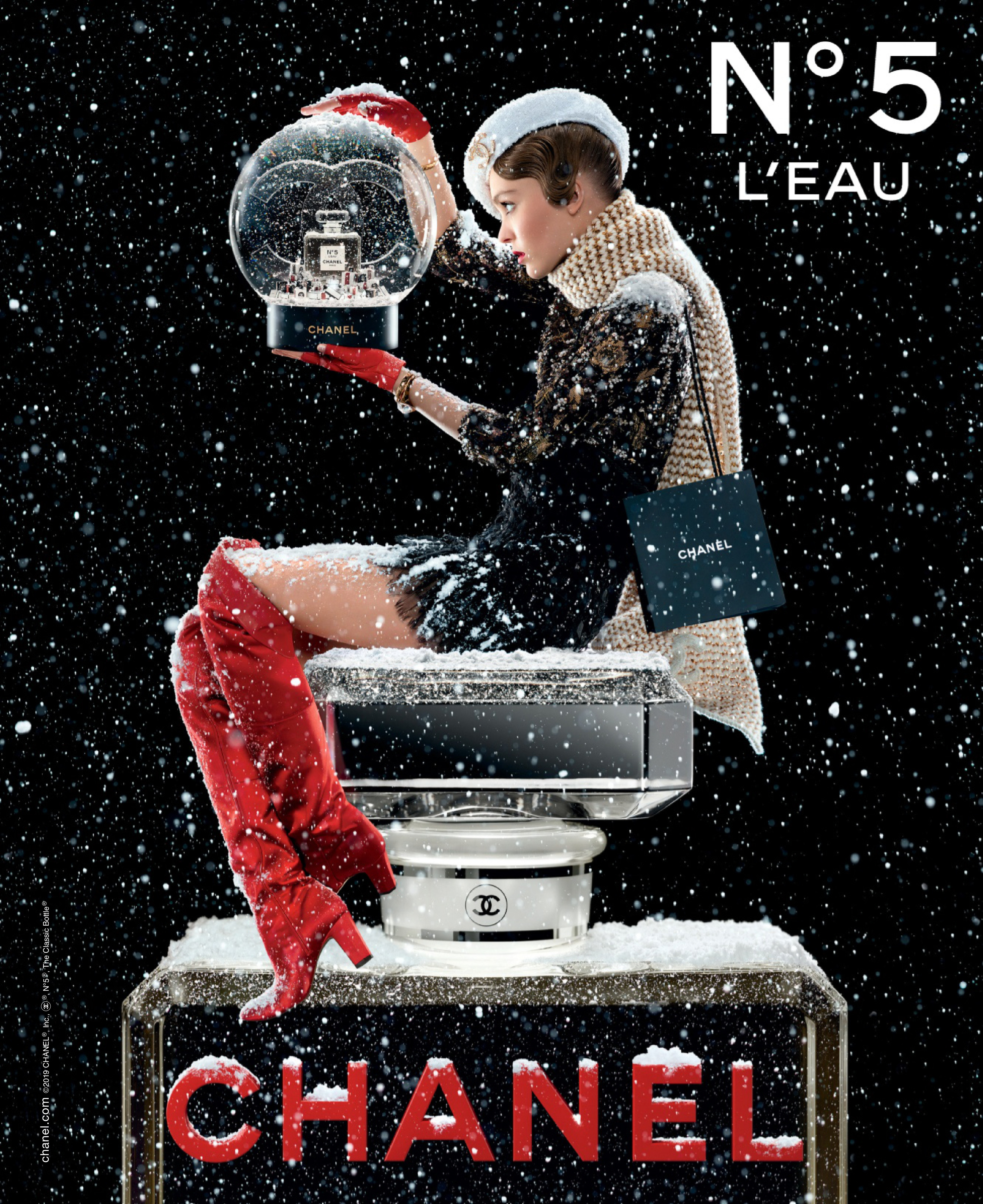 Chanel 'No. 5 L'Eau' Fragrance Holiday 2019 Campaign With Lily-Rose Depp by Jean-Paul Goude
