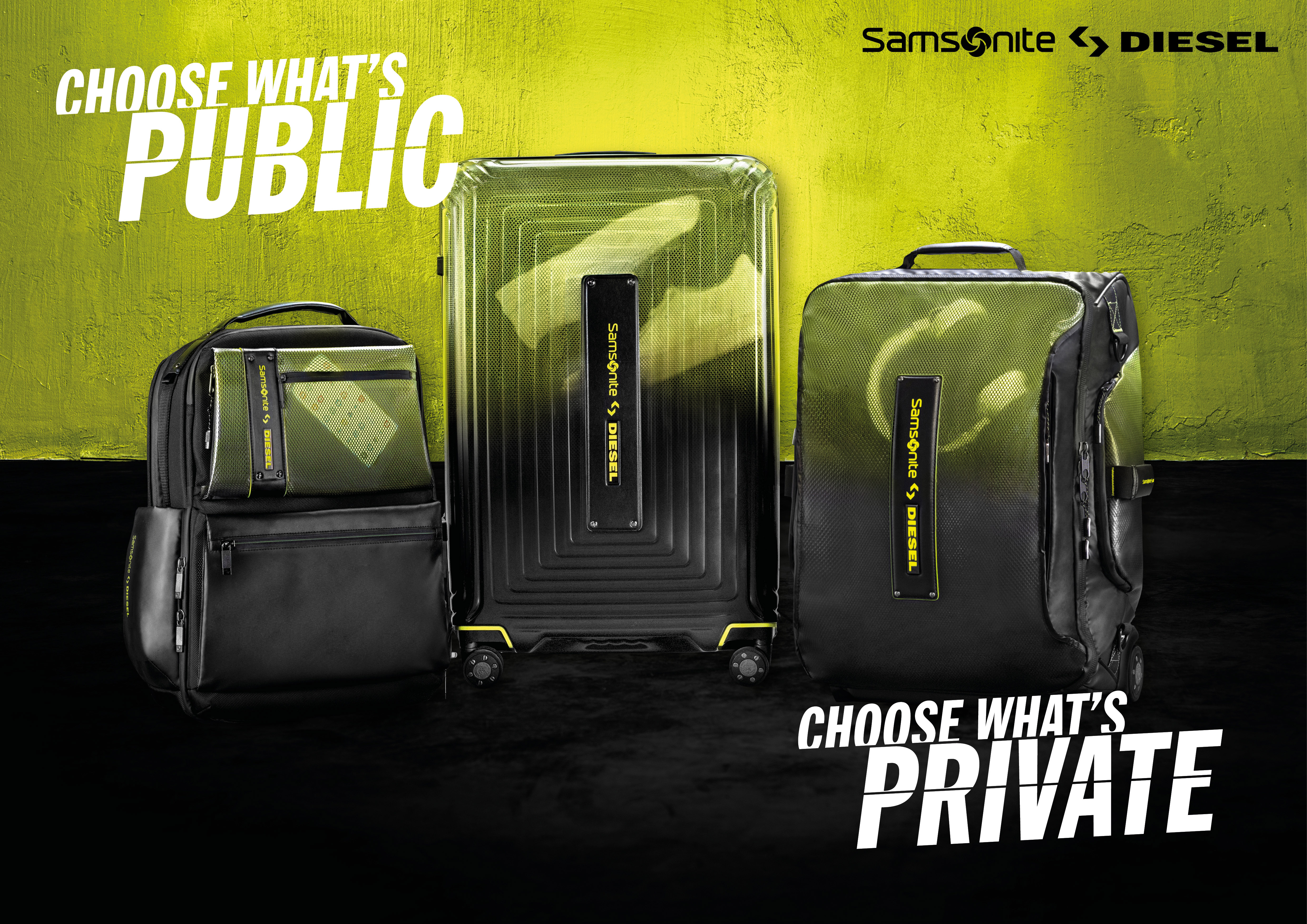Diesel & Samsonite Collection 'Choose What's' Campaign by Small Agency