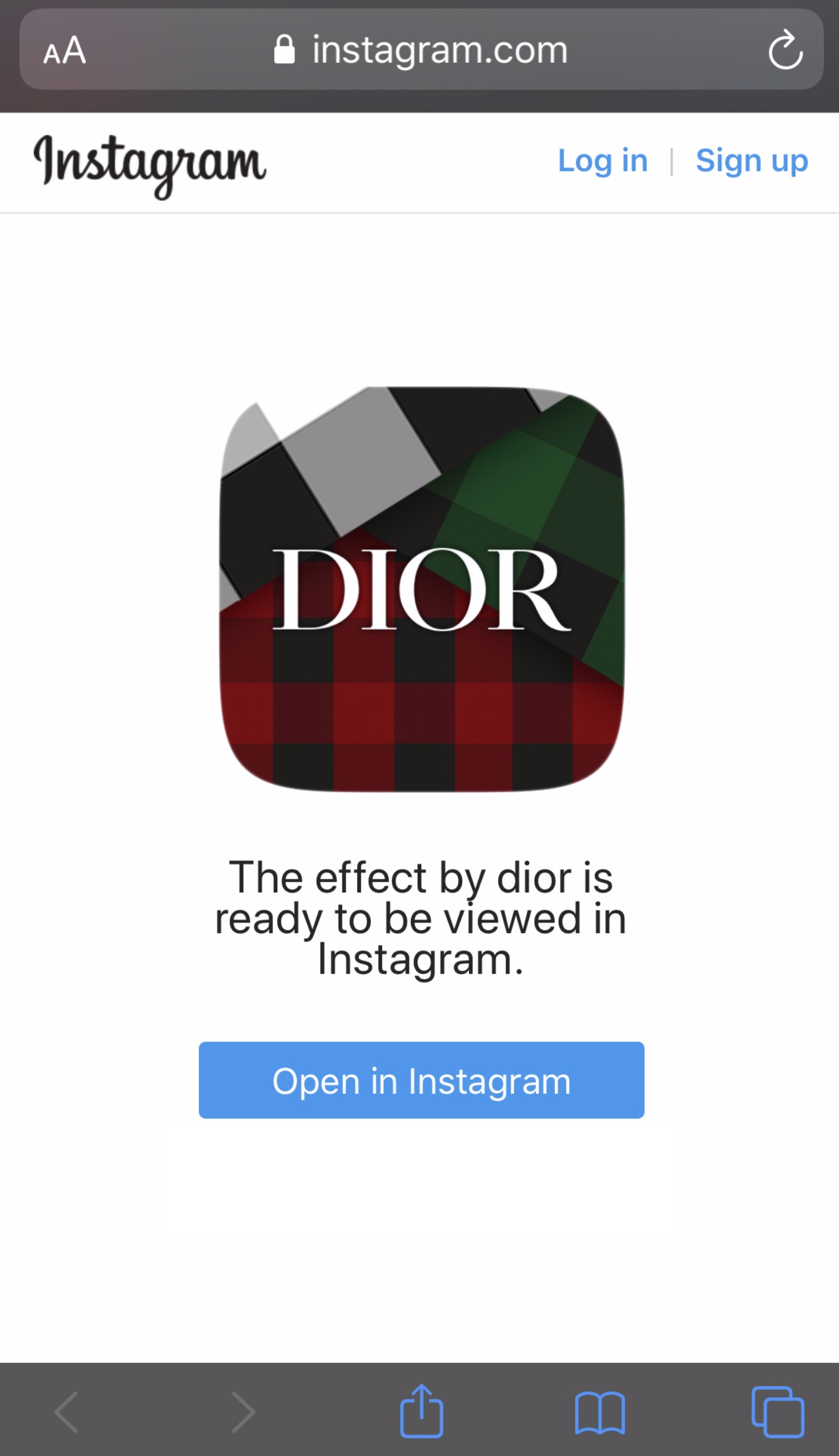Dior Launches Check'N'Dior Instagram Augmented Reality