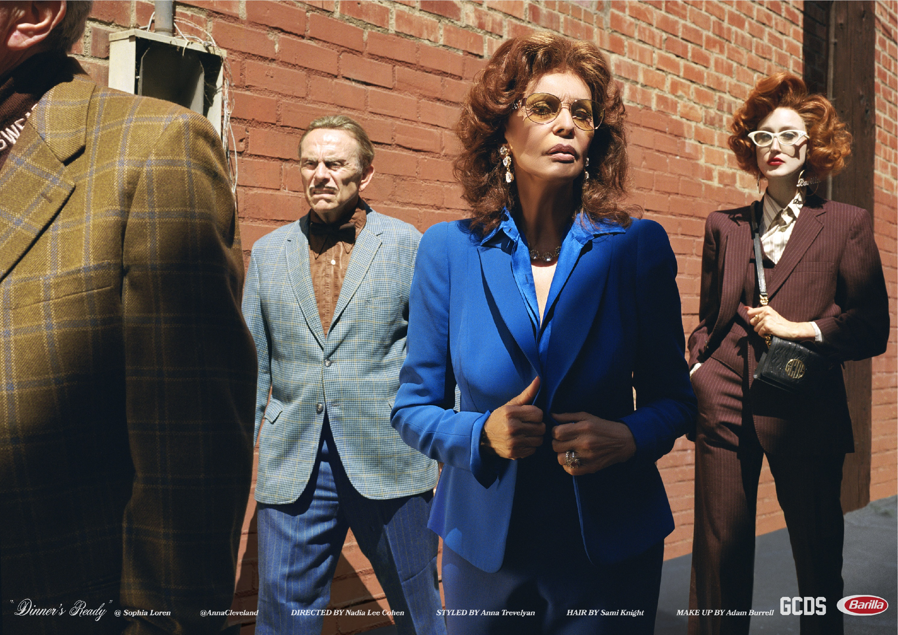 GCDS 'Dinner's Ready' Fall 2019 Fashion Ad Campaign with Sophia Loren
