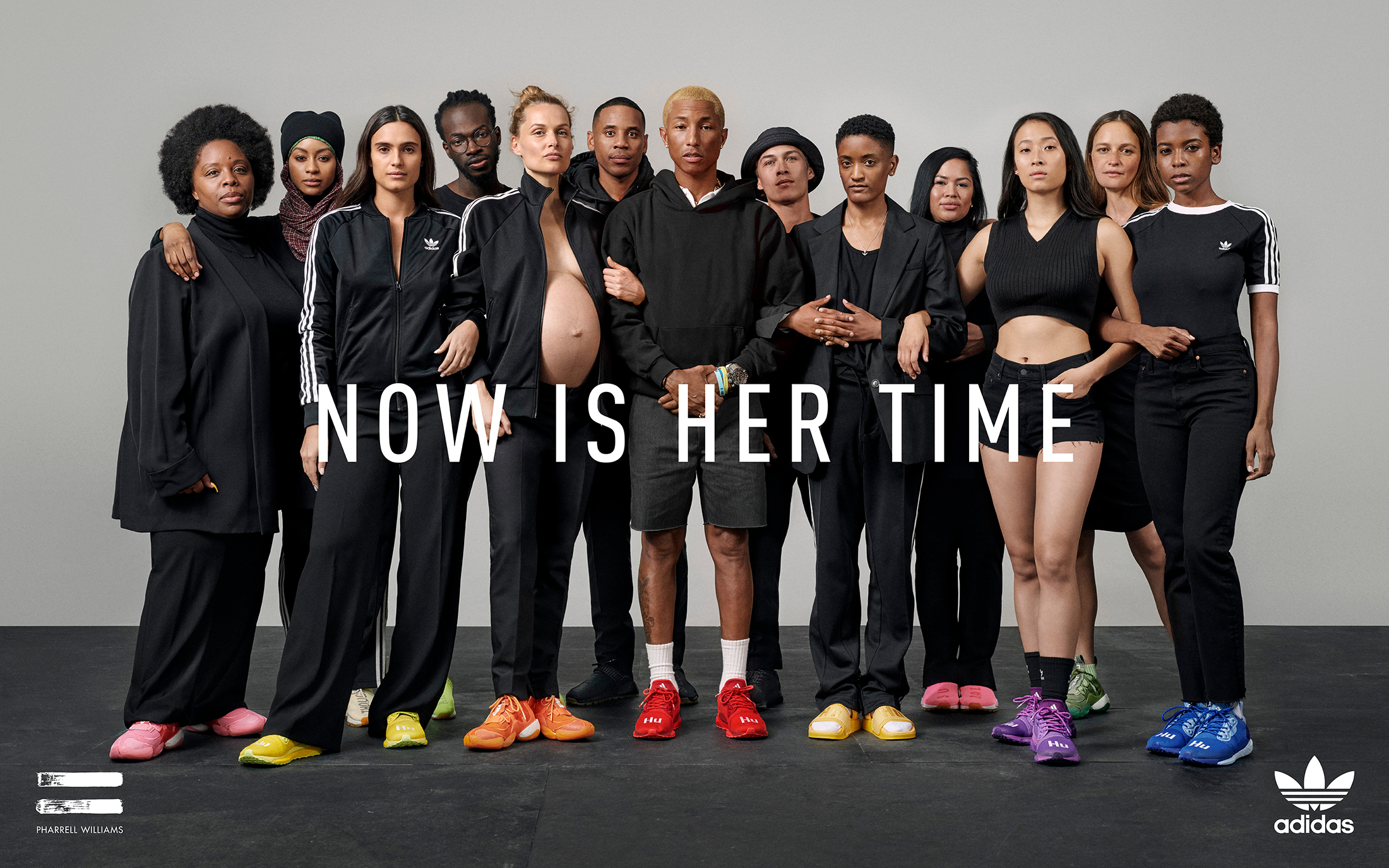 Adidas + Pharrell Williams Now Is Her Time 2019 Campaign by Lloyd & Co