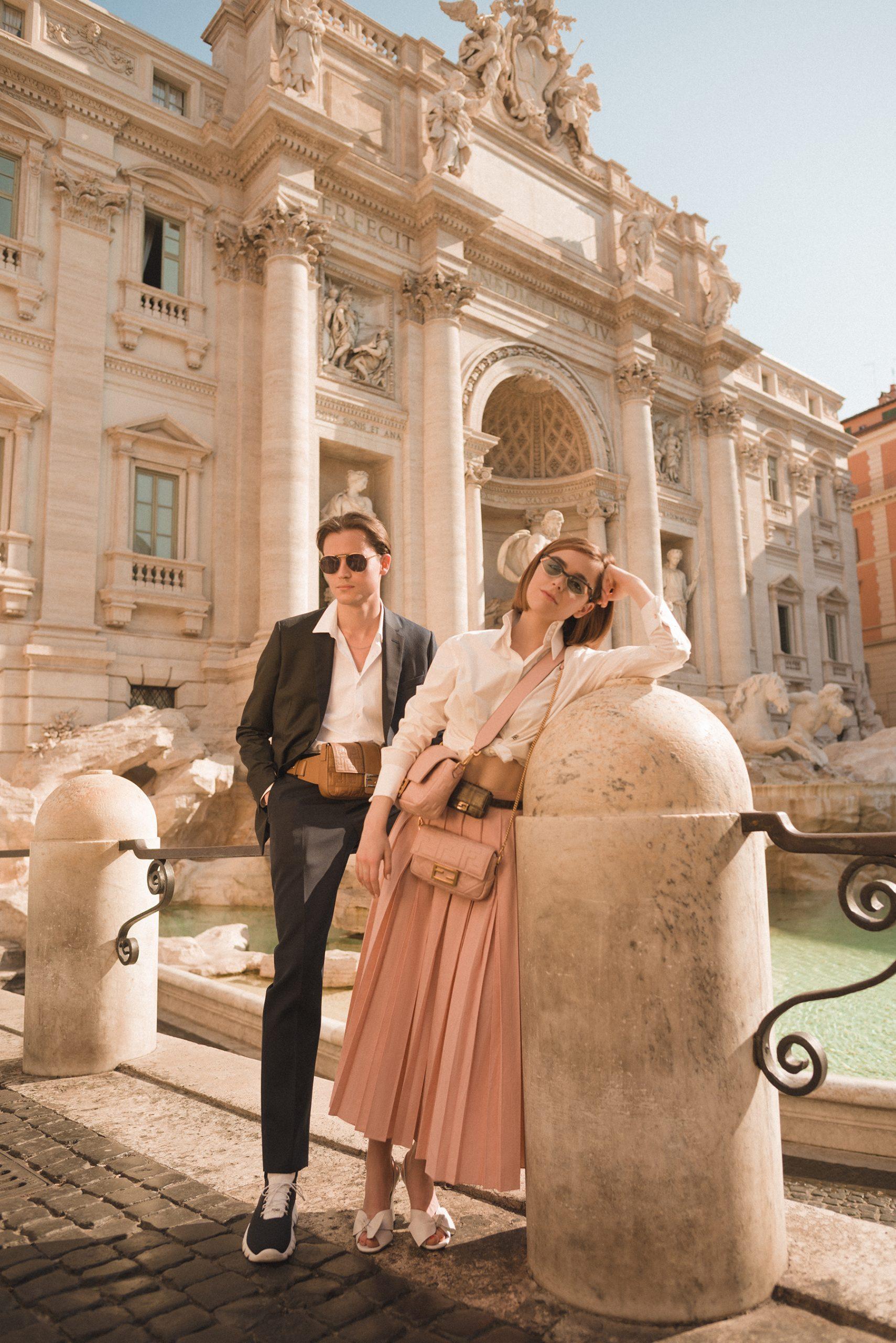 Fendi Roman Holiday Campaign with Kiernan Shipka