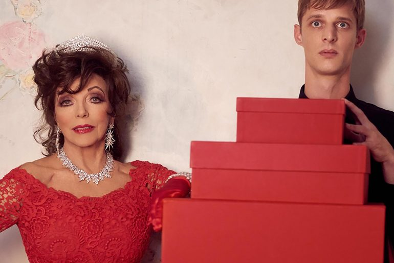 Valentino 'Joan for The Holidays' 2019 Ad Campaign with Joan Collins