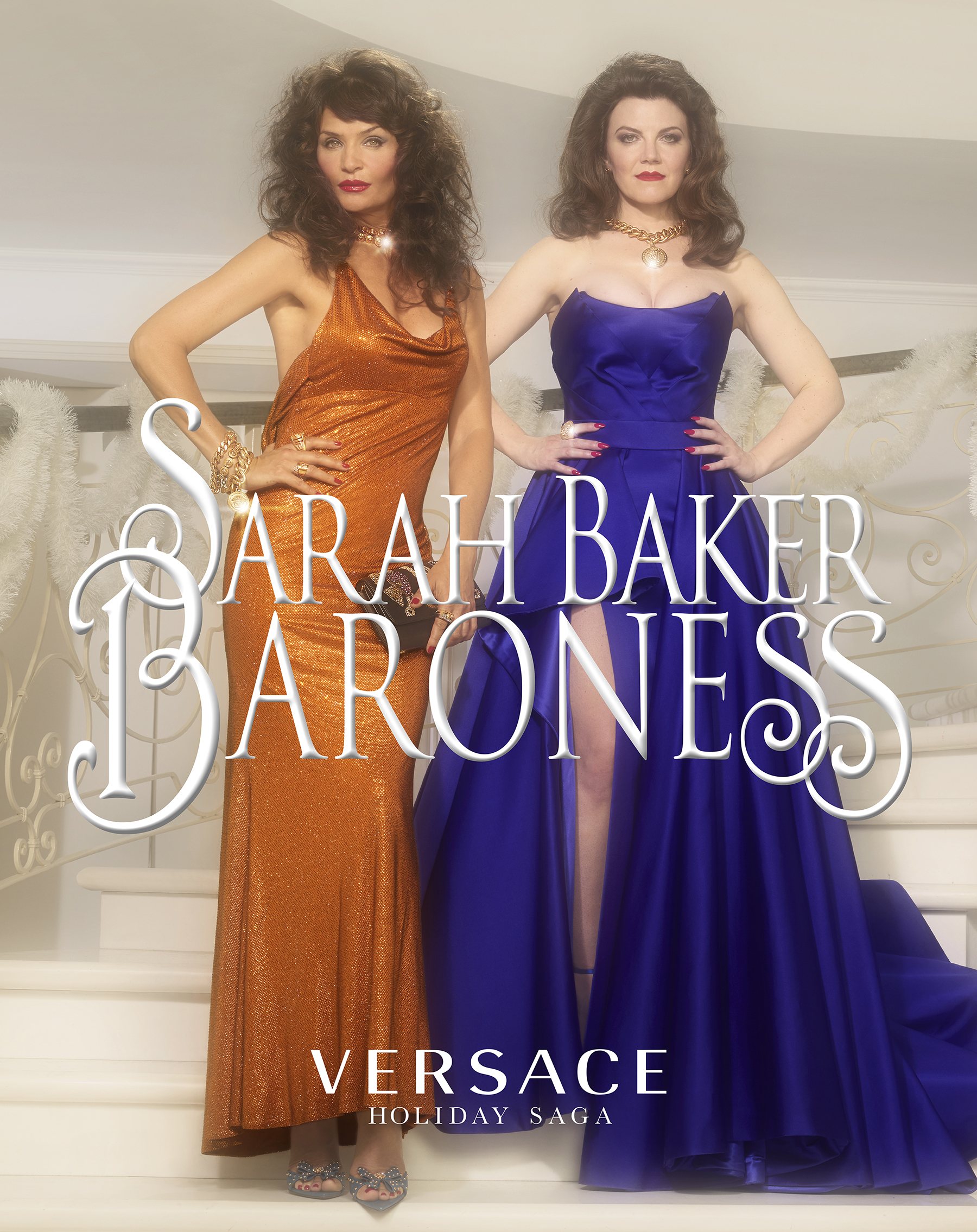 Versace 'Baroness by Sarah Baker' Holiday 2019 Ad Campaign