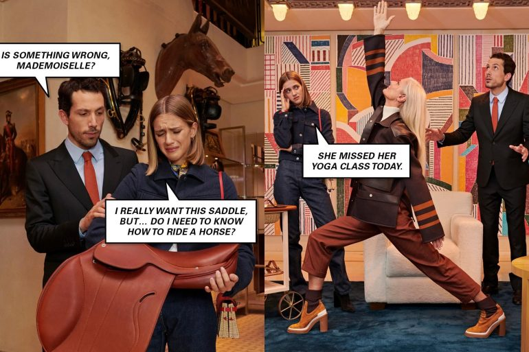 Hermès 'The Chatroom' Instagram Fall 2019 Ad Campaign