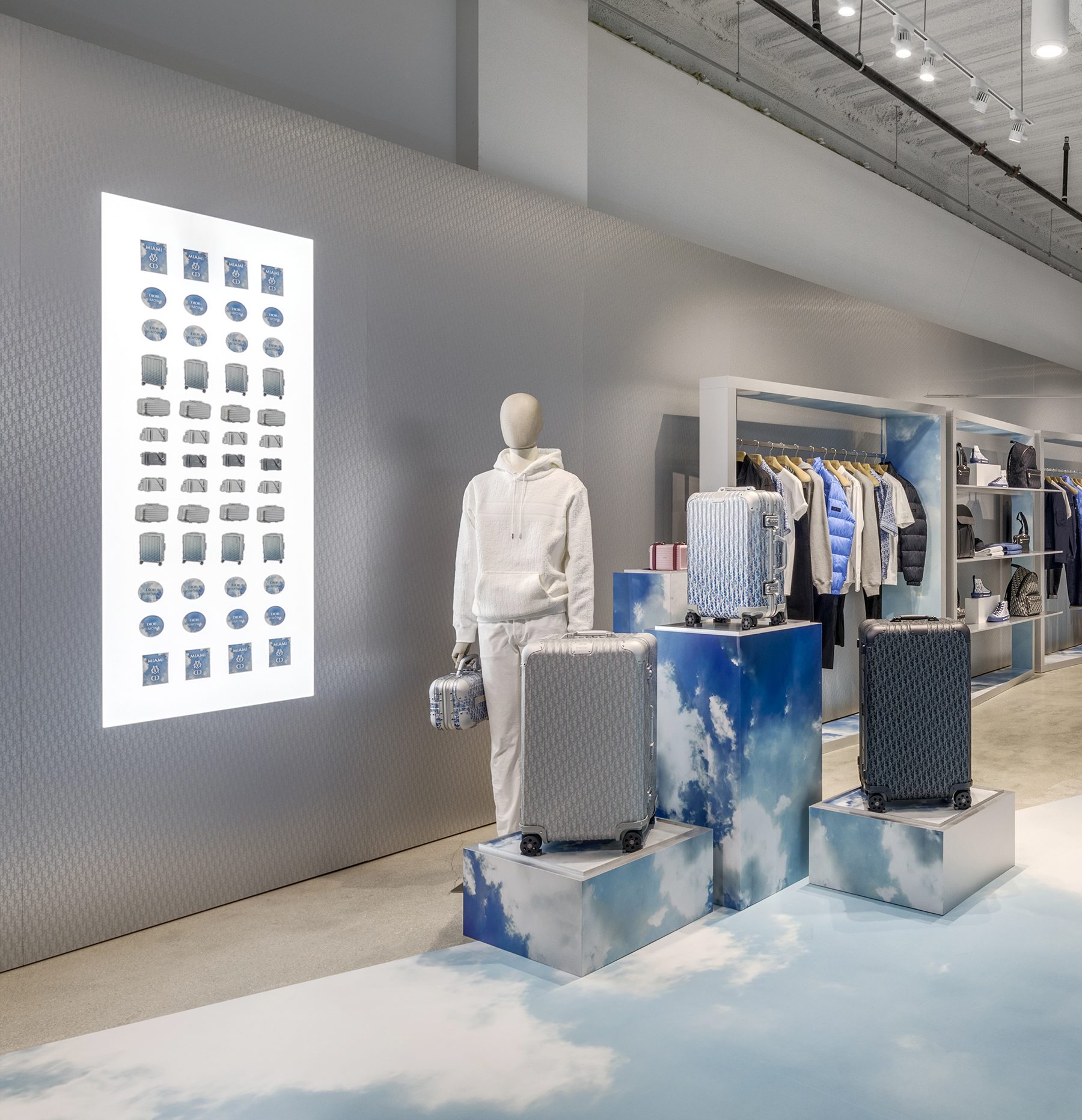 Dior and Rimowa Pop-Up Miami Design District Pictures