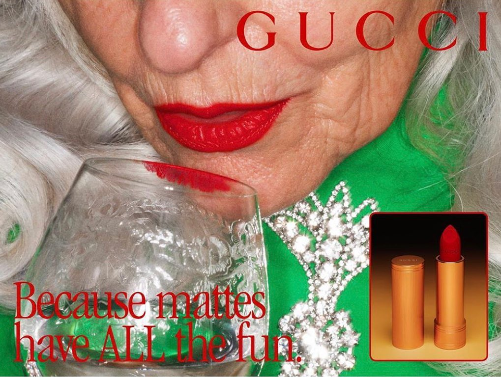 Gucci Beauty Makeup Matte Lipstick Collection Campaign Pictures and Film