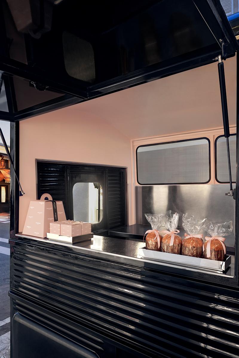 Saint Laurent Food Truck with Sant Ambroeus at Paris Store | The Impression