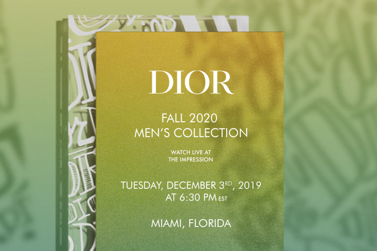 Watch Dior Men's Fall 2020 Fashion Show Live from Miami