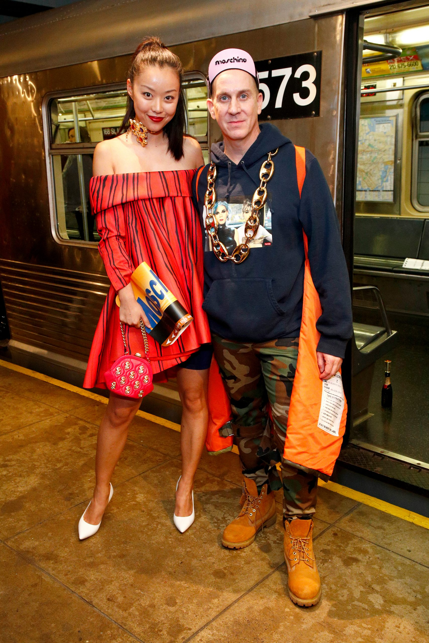Moschino Pre-Fall 2020 Fashion Show Front Row Pictures