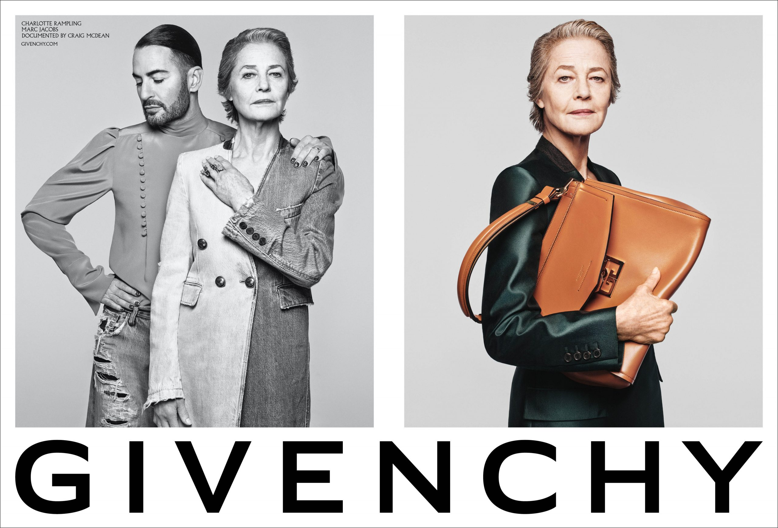 Givenchy Spring 2020 Fashion Ad Campaign with Marc Jacobs and Charlotte Rampling Photos