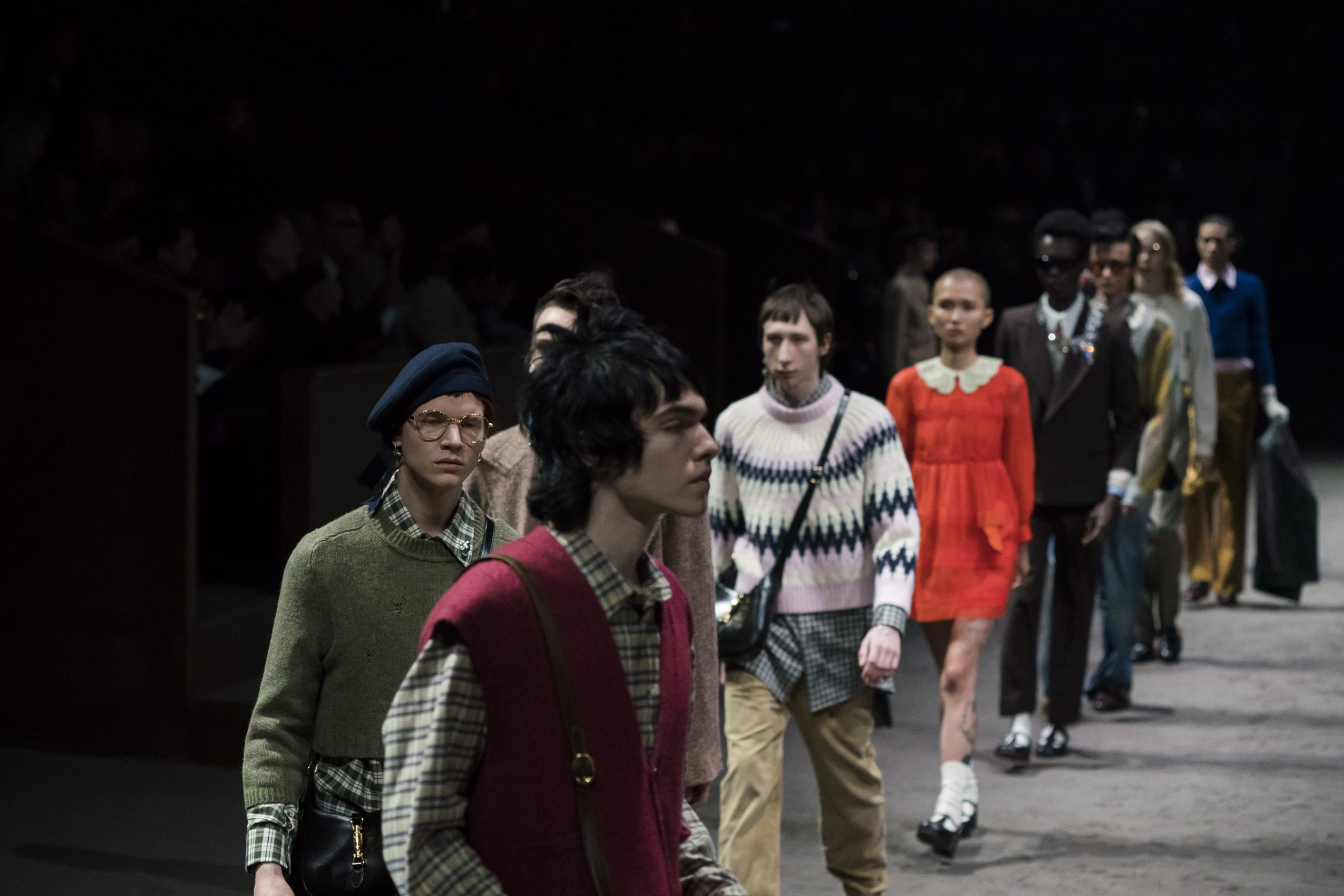 Gucci Fall 2020 Men's Fashion Show Atmosphere