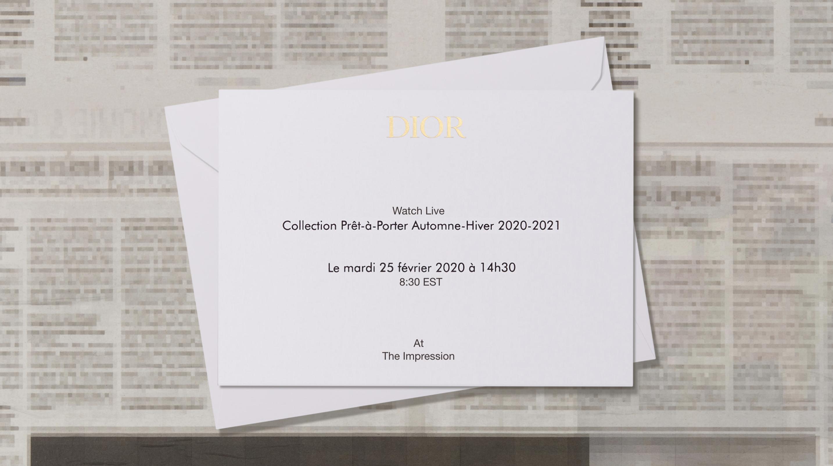 Dior Fall 2020 Fashion Show Video