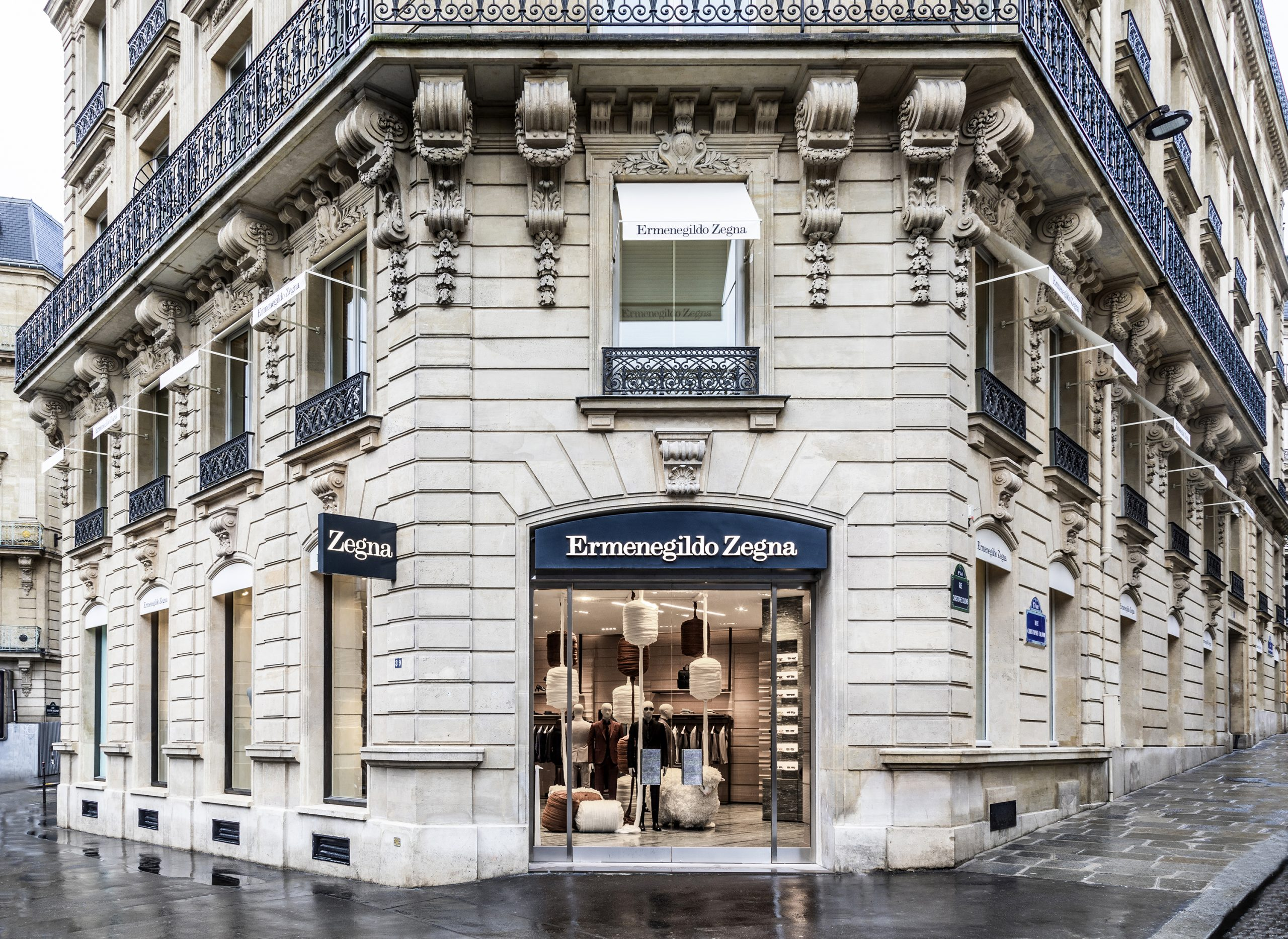 Ermenegildo Zegna Paris Flagship Photos