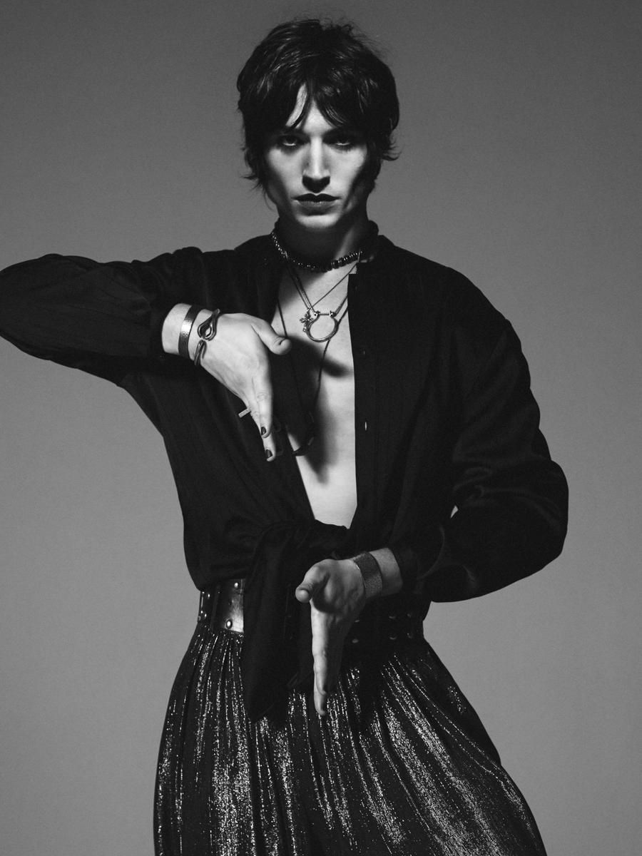 Saint Laurent Spring 2020 Fashion Ad Campaign with Ezra Miller