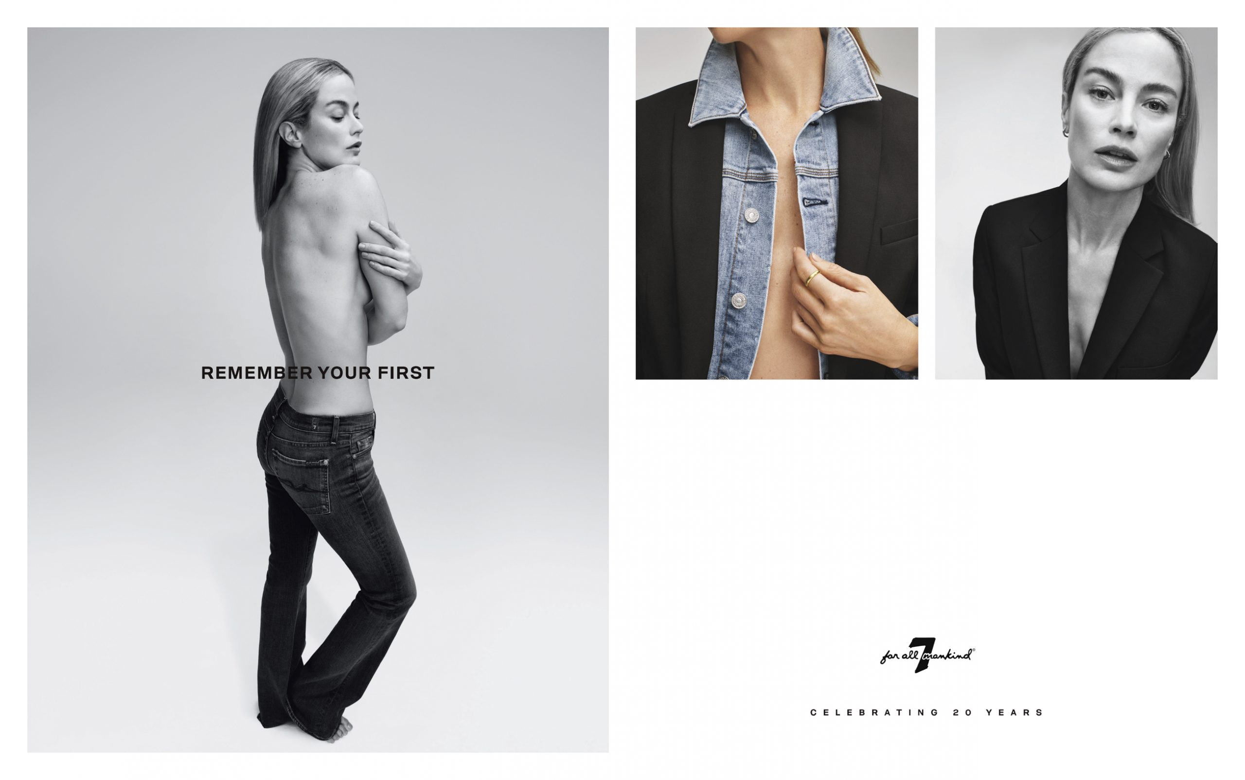 """""""Remember Your First"""" 7 For All Mankind Spring 2020 Fashion Ad Campaign Photos"""