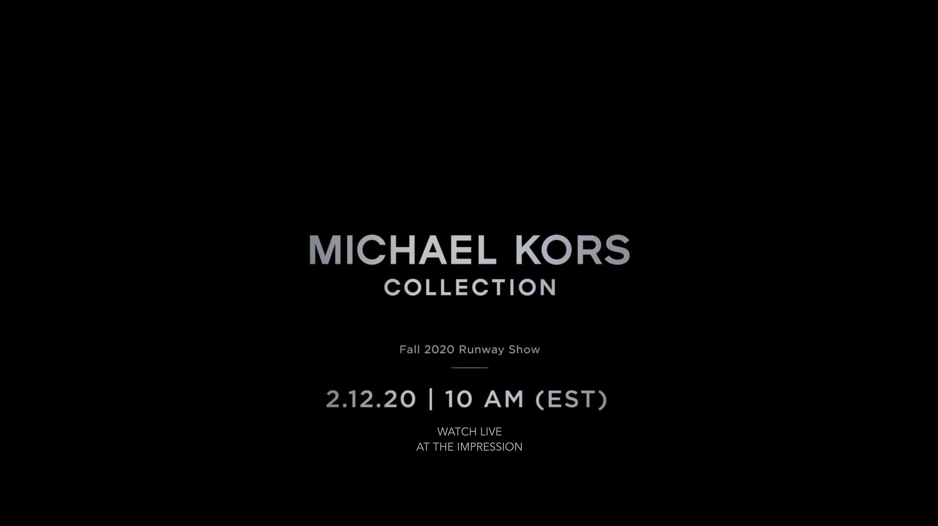 Michael Kors Fall 2020 Fashion Show Video
