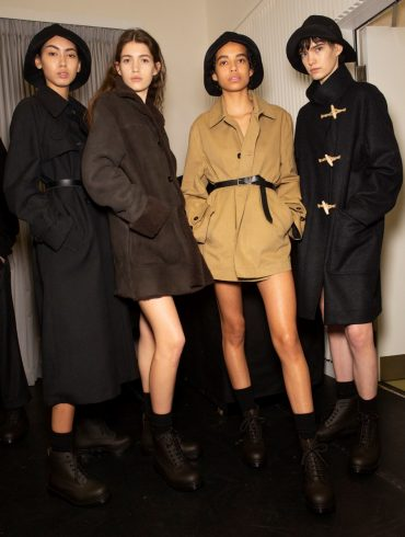Margaret Howell Fall 2020 Fashion Show Backstage