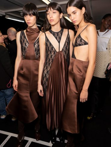 Christopher Kane Fall 2020 Fashion Show Backstage