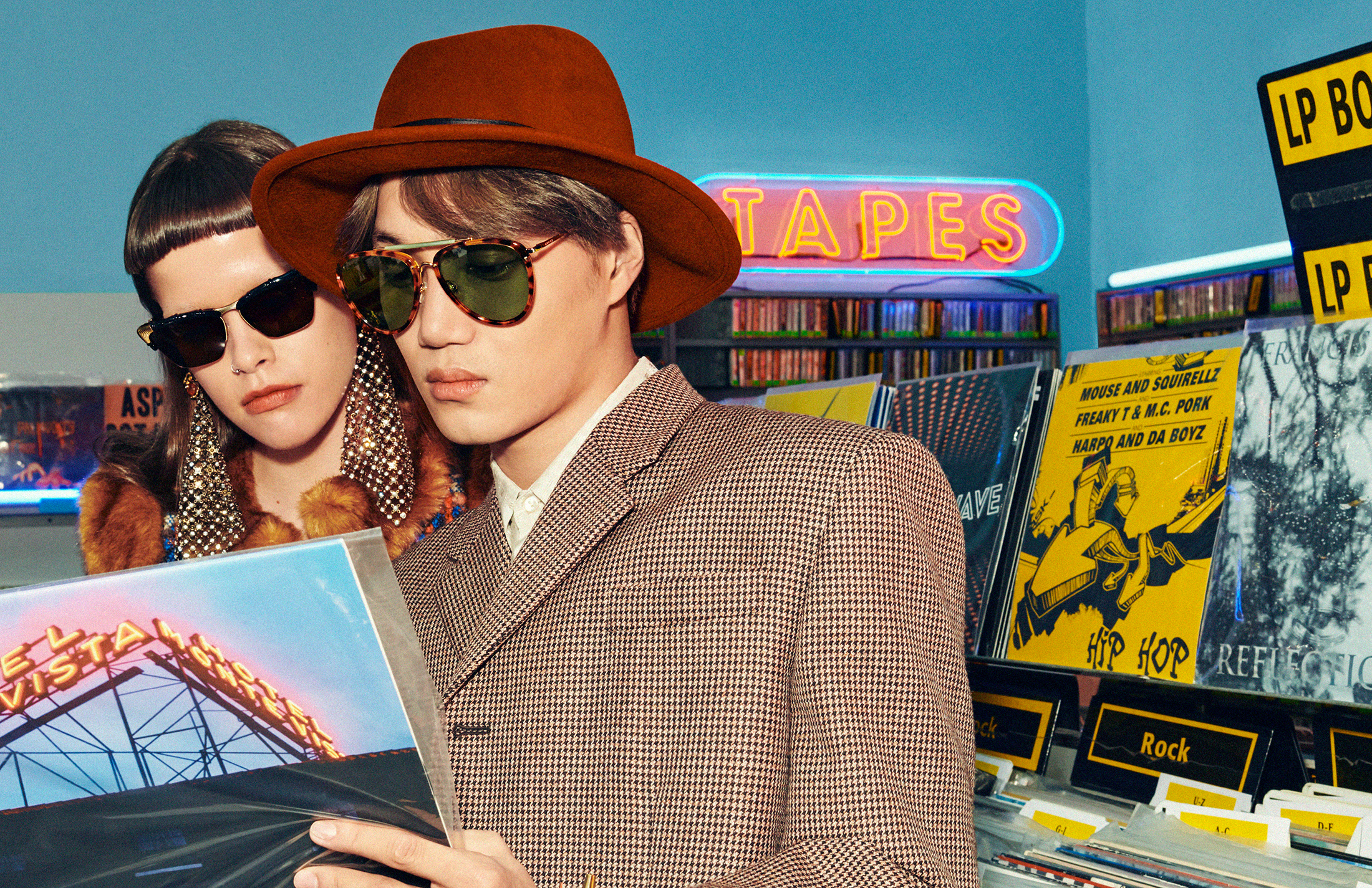 Gucci Spring 2020 Eyewear Ad Campaign with Ni Ni and KAI Photos