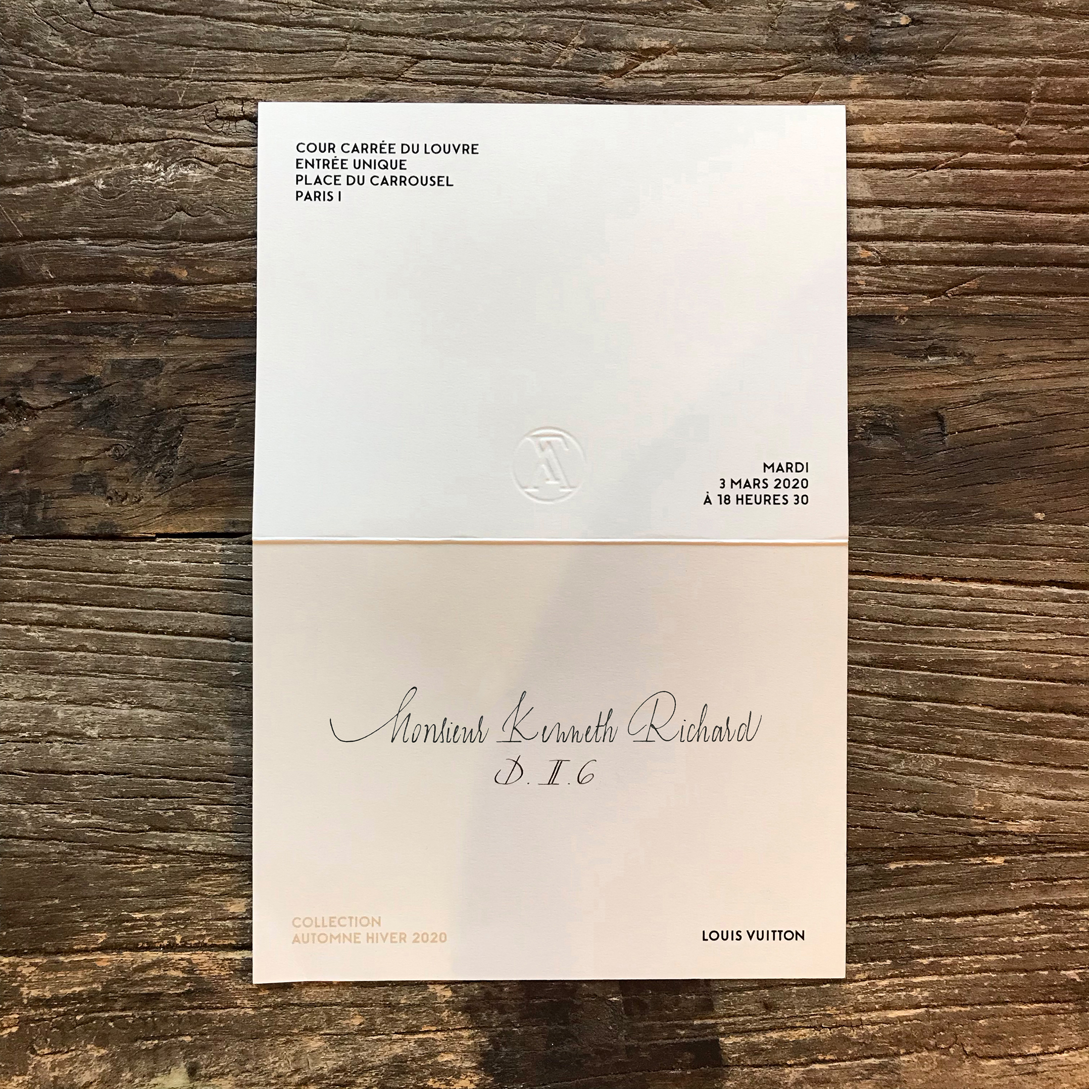 Women's Fashion Show Invitations Photos from Fall 2020