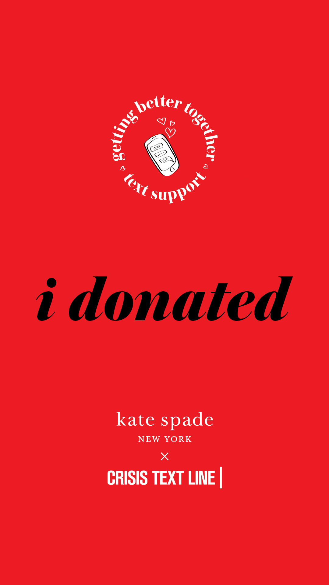 Kate Spade New York Foundation Donates to Crisis Text Line