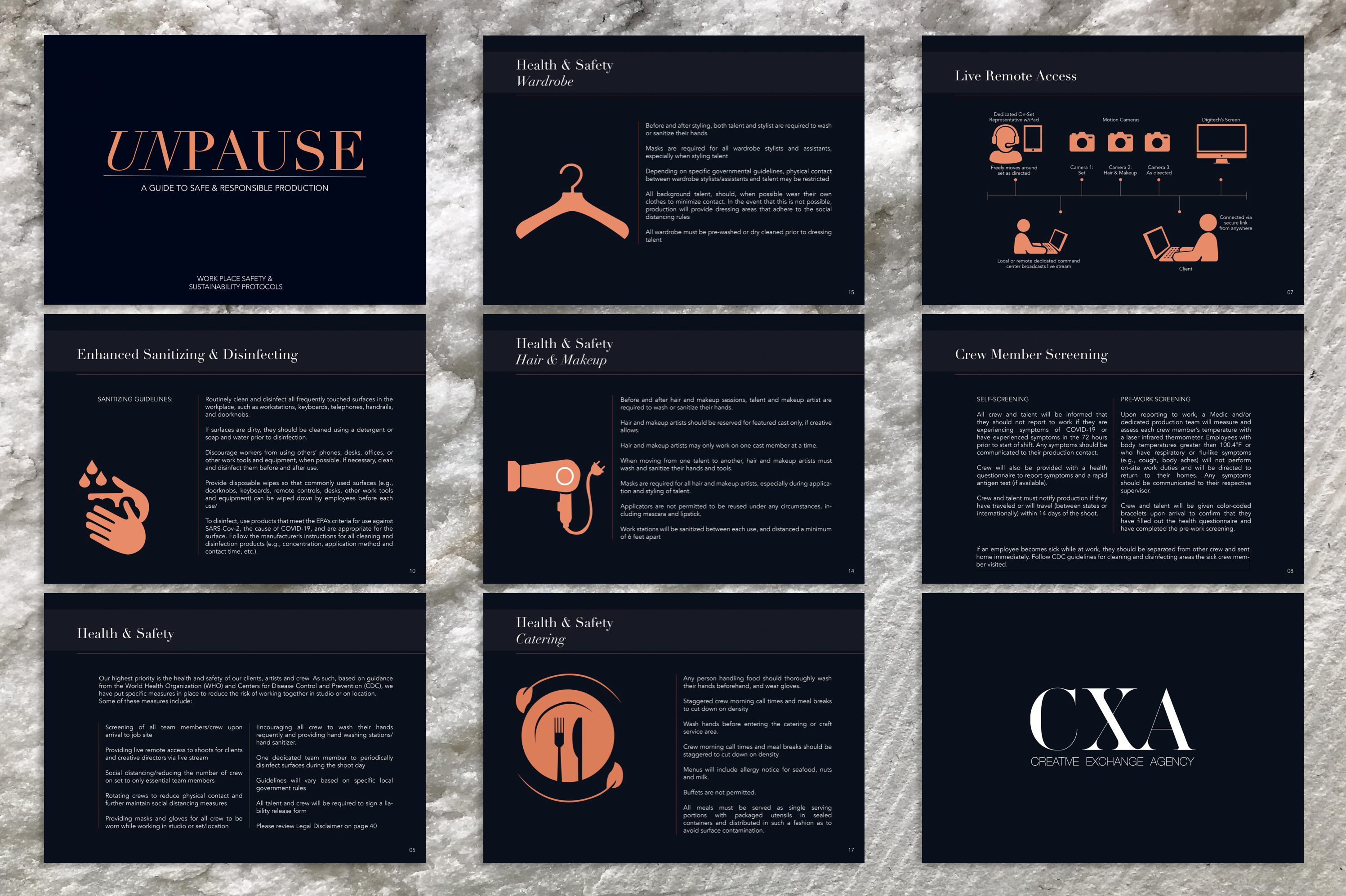 CXA Agency Releases Guide to Safe & Responsible Shoot Production