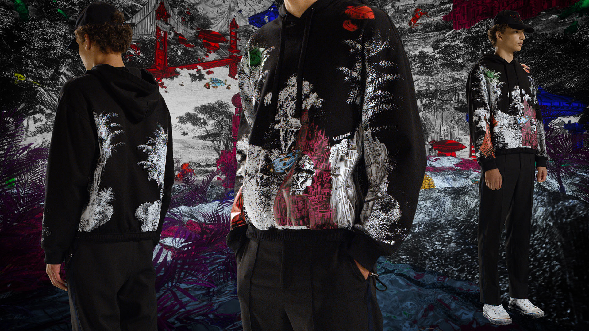Valentino Dreamatic Fall 2020 Men's Fashion Ad Campaign Photos