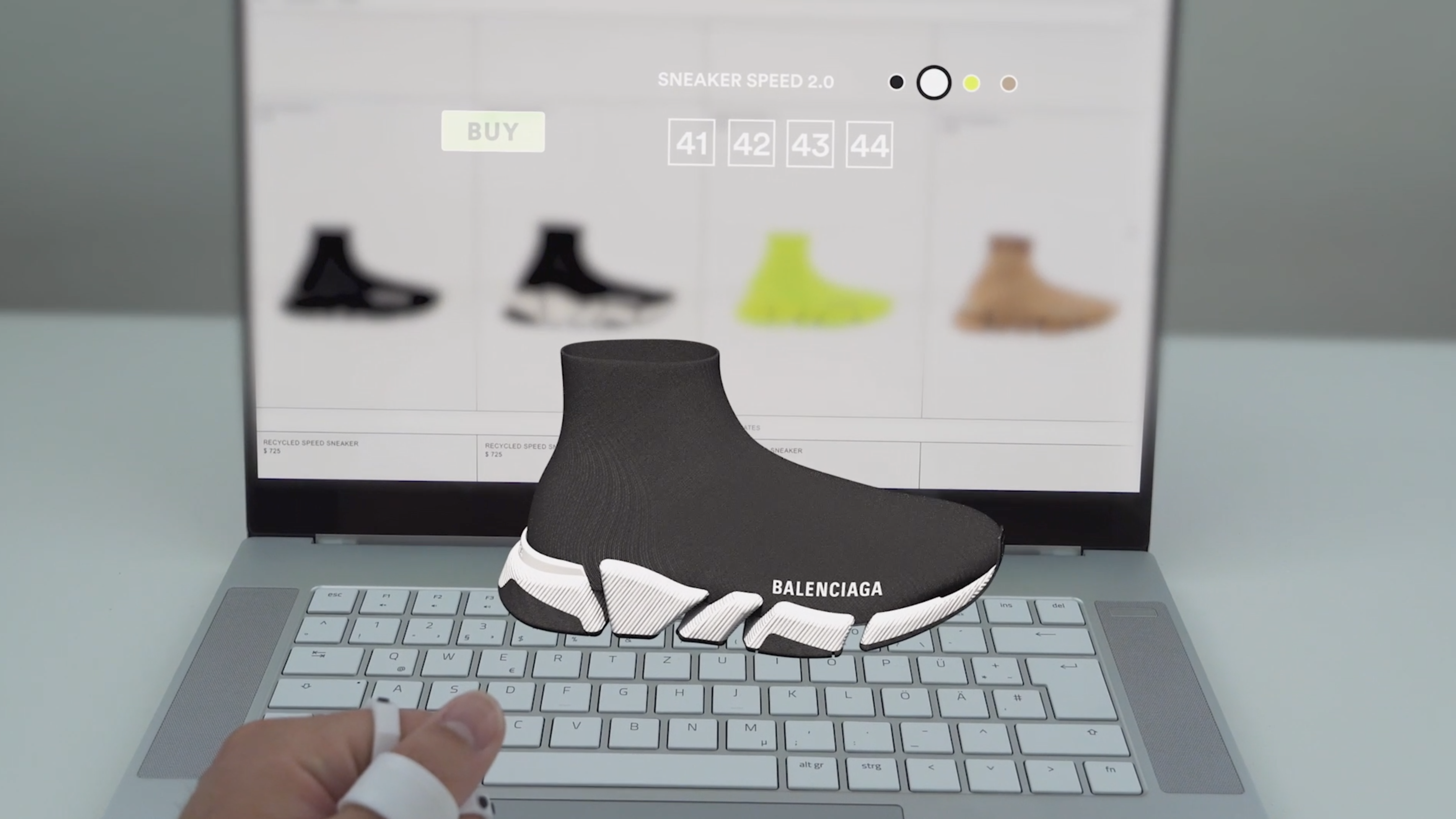Balenciaga Goes all Tech with Speed Trainer Marketing Video
