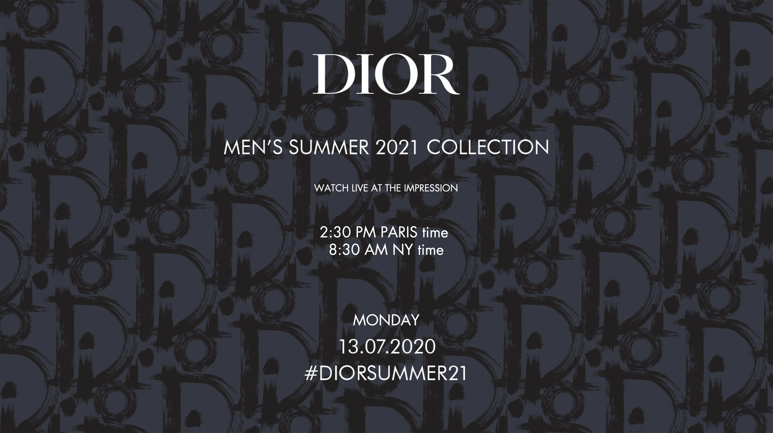 Watch Dior Men's Spring 2021 Fashion Show Live from Paris