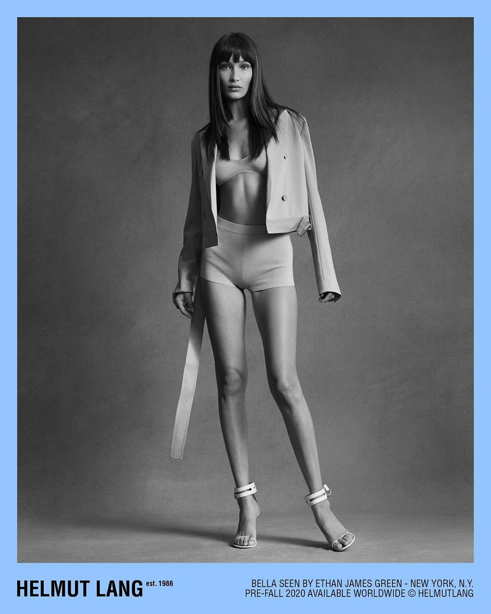 Helmut Lang Pre-Fall 2020 Fashion Ad Campaign with Bella Hadid Photos
