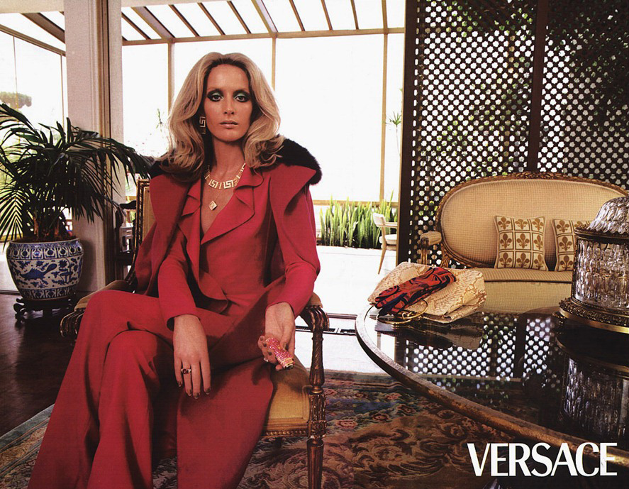 Versace 'House Party' Pre-Fall 2020 Ad Campaign with Georgina Grenville