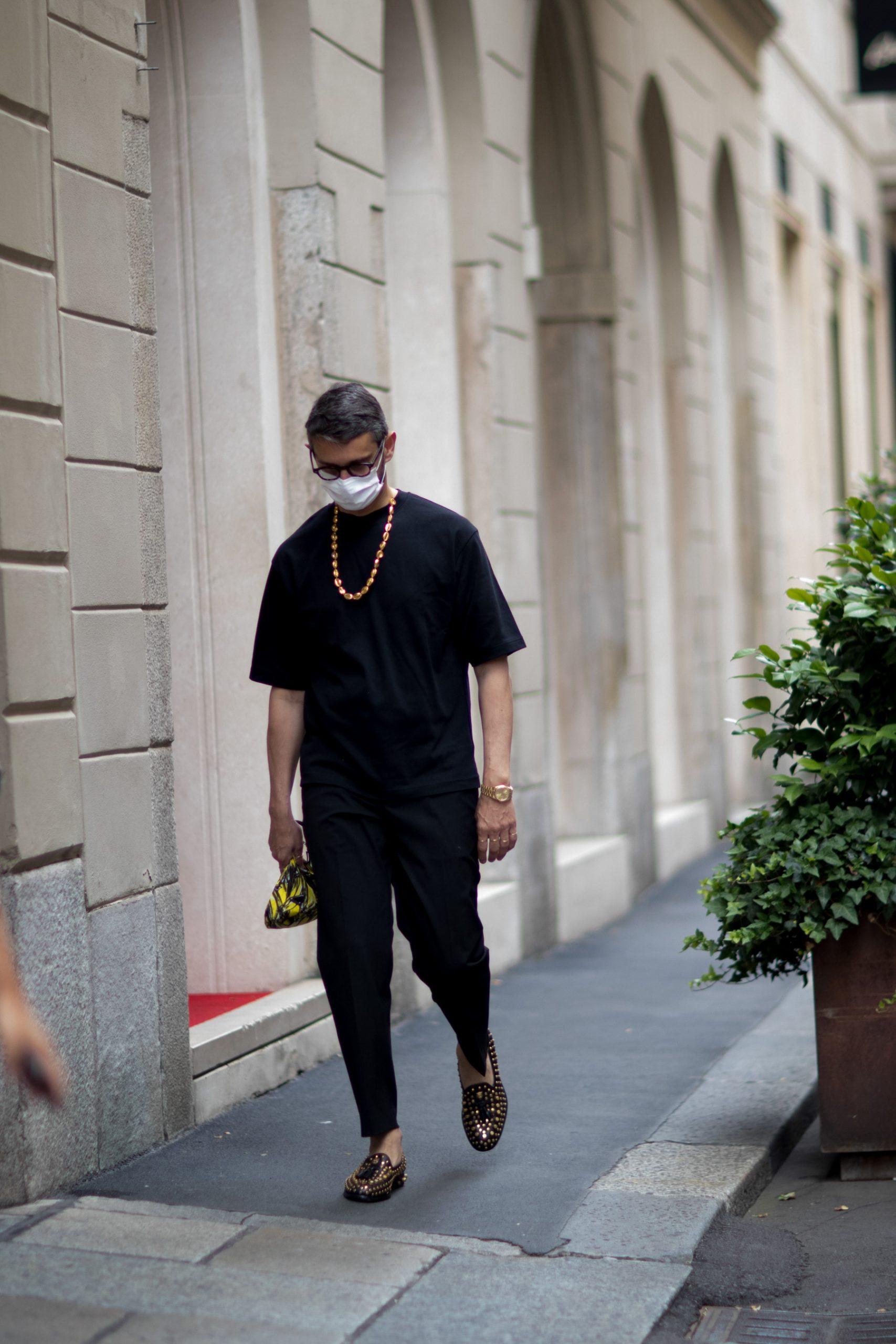 Milan Men's Street Style Spring 2021 Men's Day 2
