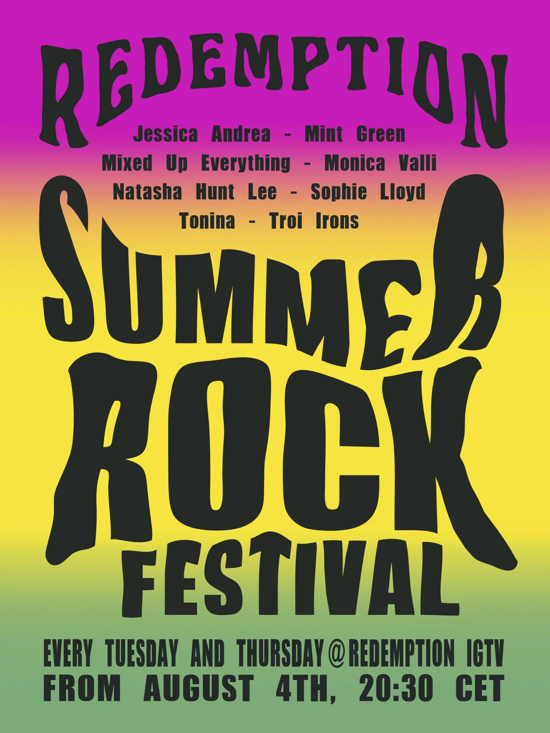 Bebe Moratti Talks Redemption Summer Rock Festival