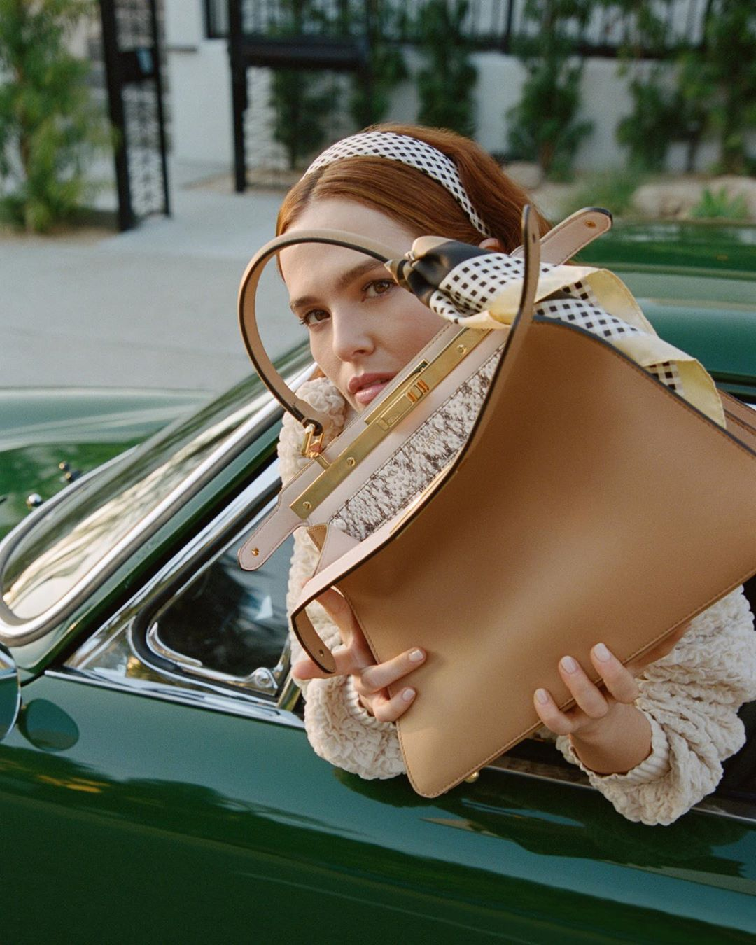 Fendi Fall 2020 Peekaboo Ad Campaign with Zoey Deutch Film & Photos