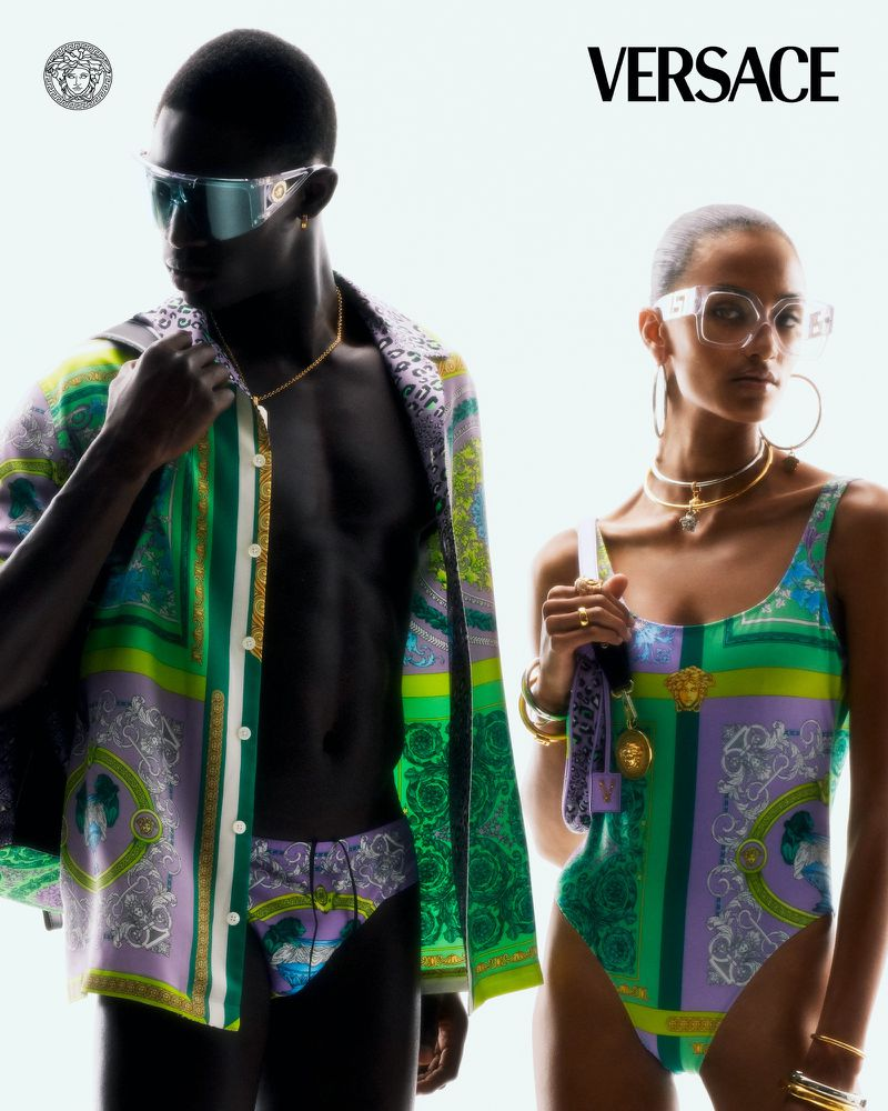 Versace 'Flash 2021' Resort Ad Campaign with AJ Tracey