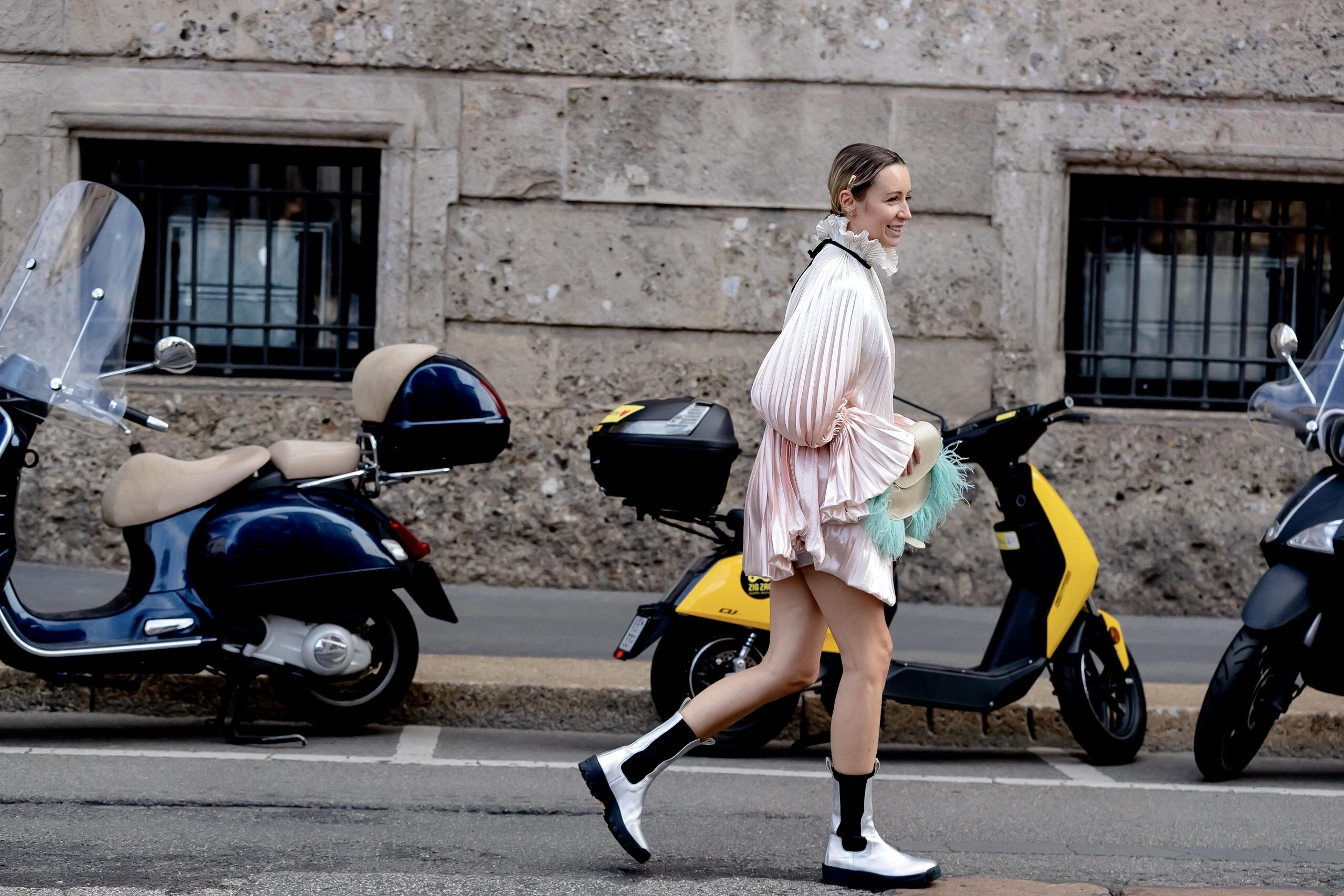 Milan Spring 2021 Day 4 Street Style by Nick Leuze Photos