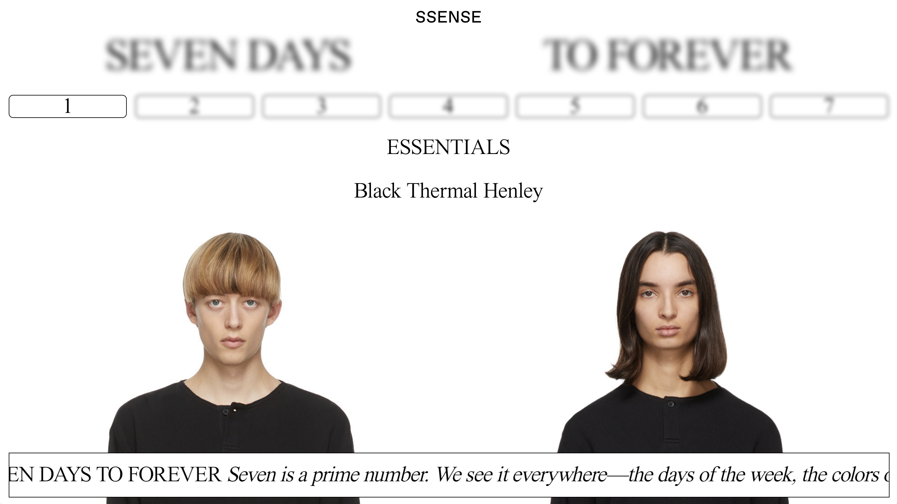 Fear of God Ssense 'Seven Days to Forever' Digital Experience