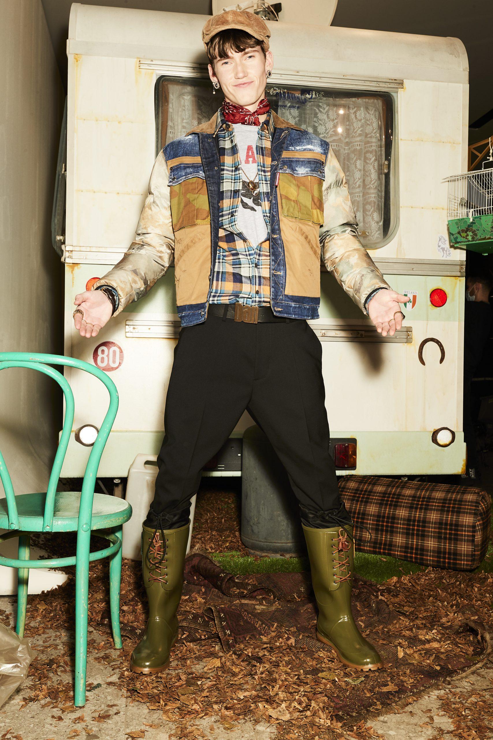 Dsquared2 Men's Pre-Fall 2021 Fashion Show Photos