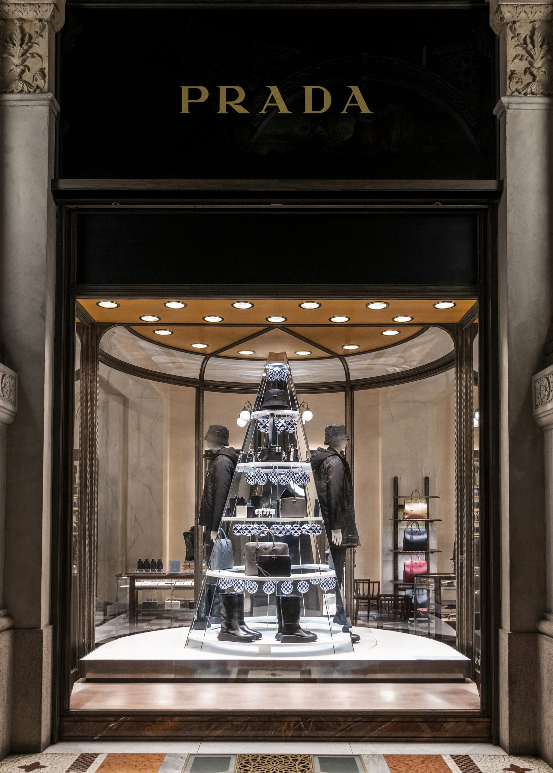 Prada's Holiday Windows