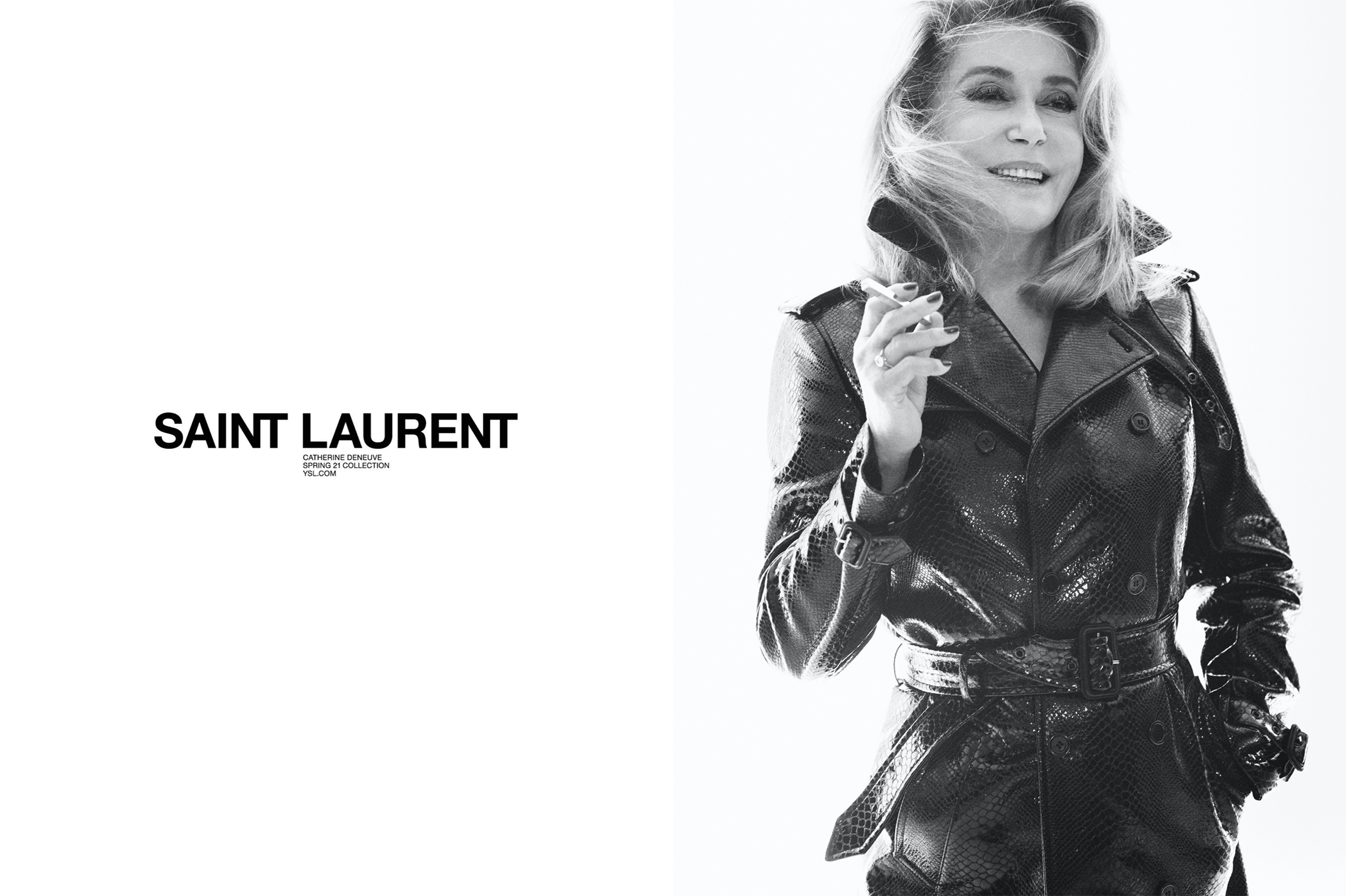 Saint Laurent Catherine Deneuve campaign
